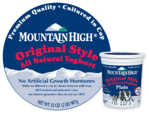 Make a Change with Mountain High Yoghurt.