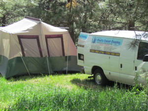 Wordless Wednesday: Carpet Cleaning for a Tent?