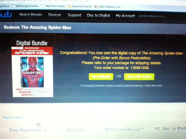 Digital Copy of The Amazing Spider-Man