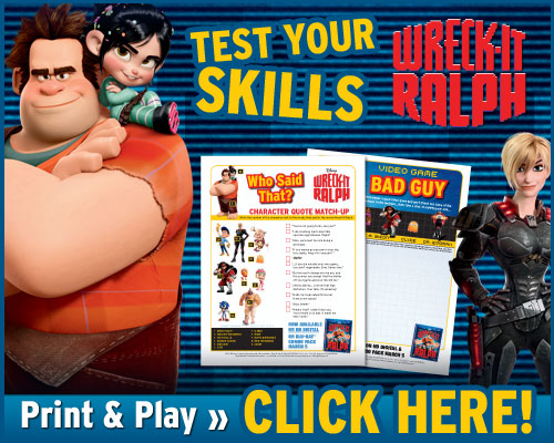 Wreck-It Ralph Activities and Review