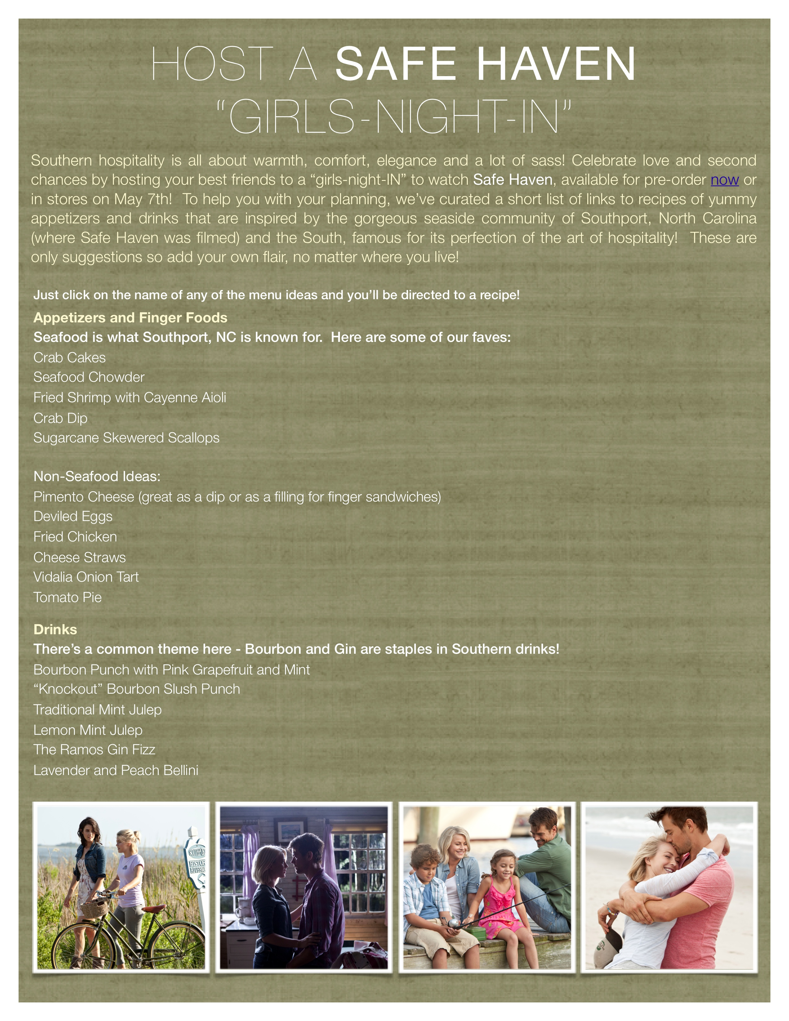 Safe Haven Ultimate Girls-Night-In Party