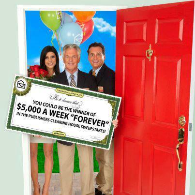 Publishers Clearing House Sweepstakes Check