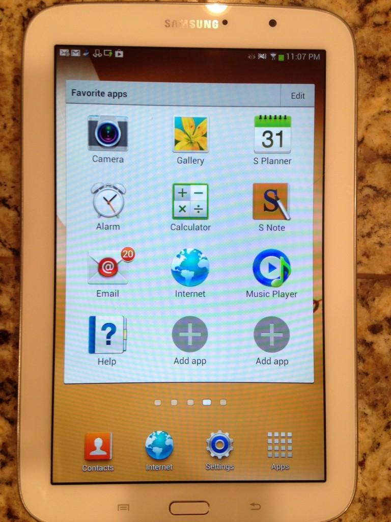 Samsung Galaxy tablet 8.0