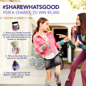 Share What's Good with Welch's for a Chance at $5,000!