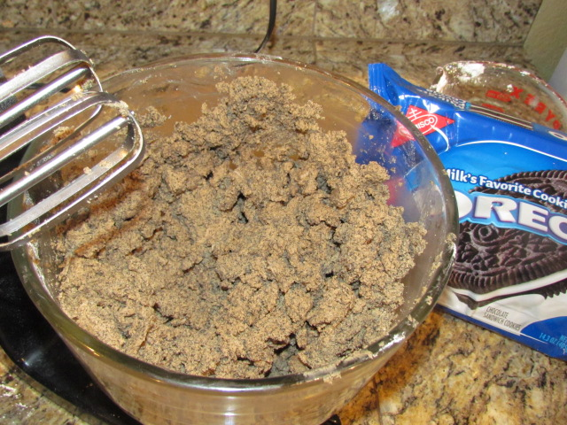 #OREO cookie ball mixture