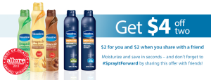 Vaseline Spray & Go coupon