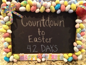 Countdown to Easter Chalkboard