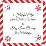 Holiday Tips on remaining sane