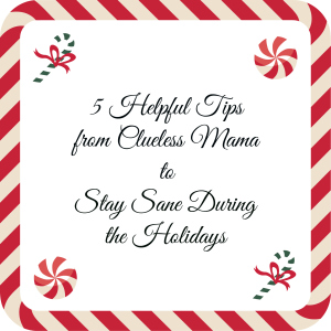 Holiday Tips on remaining sane