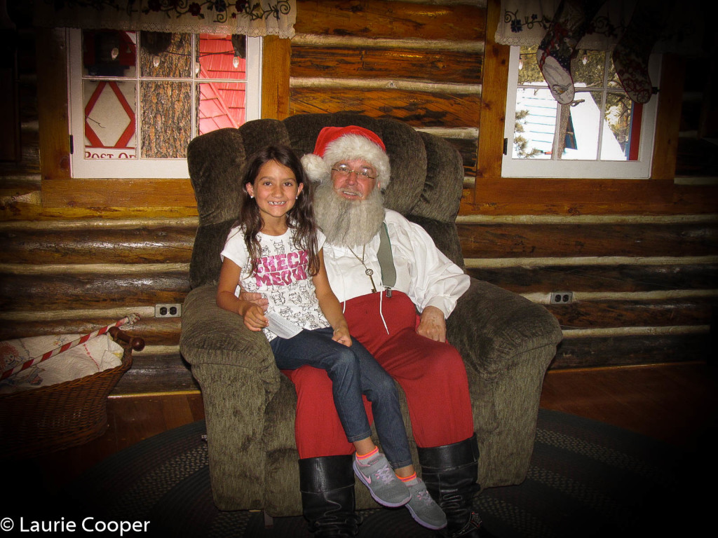 Little gal with Santa