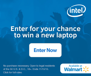 "Enter to Win the ""Upgrade with Intel"" Sweepstakes from Walmart! #UpgradeWithIntel"