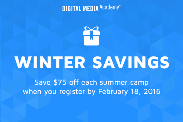 Get $75 Off Digital Media Academy this Summer!