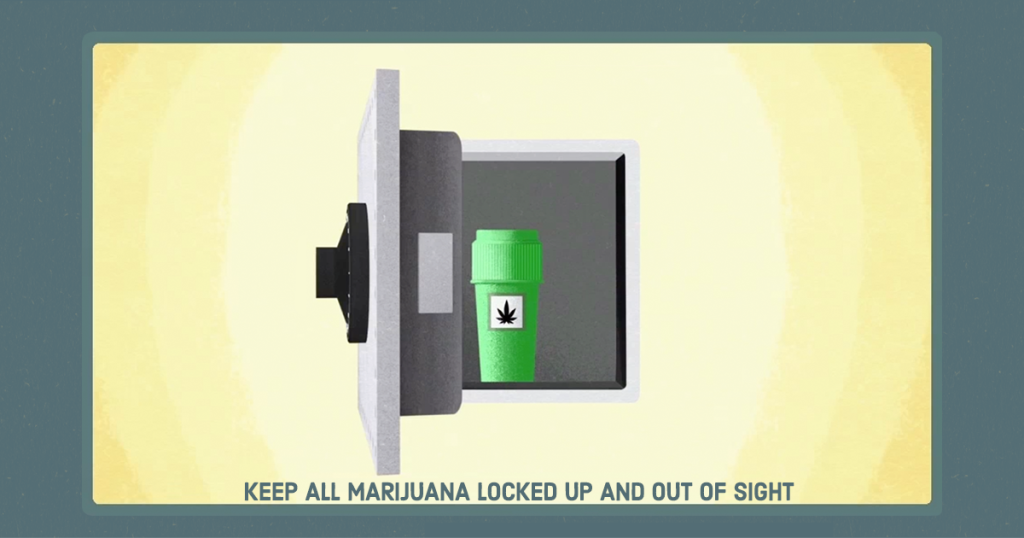 Safe storage of marijuana #goodtoknow
