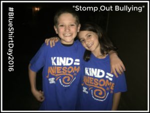 #BlueShirtDay2016 Stomp Out Bullying